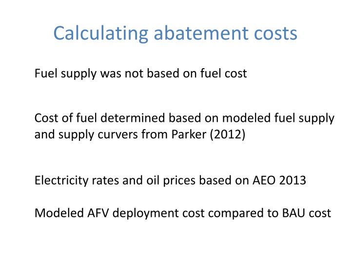 Calculating abatement costs