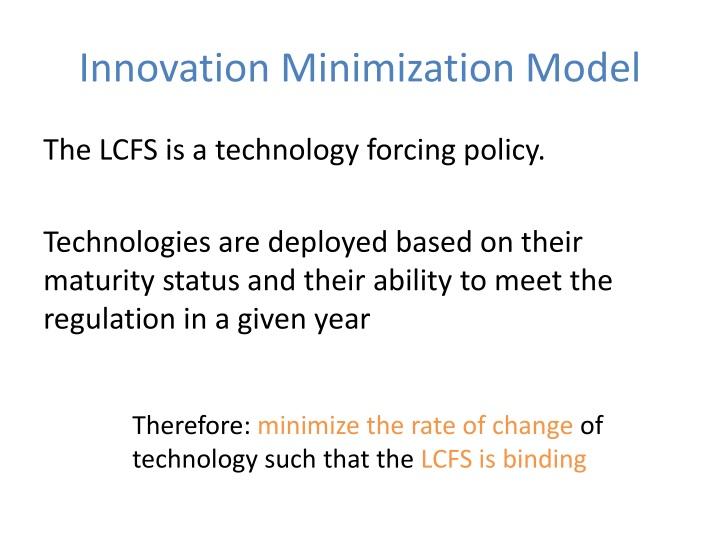 Innovation Minimization Model