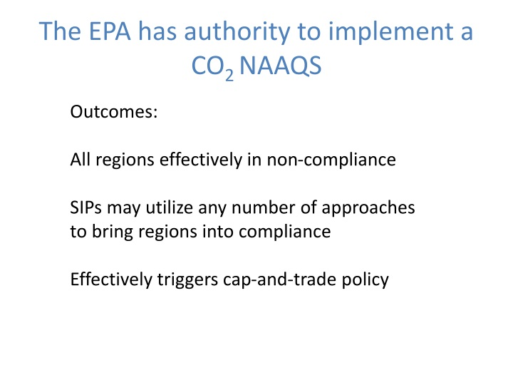 The EPA has authority to implement a CO