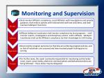 monitoring and supervision