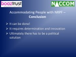 accommodating people with nrpf conclusion