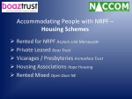 accommodating people with nrpf housing schemes