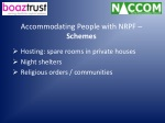 accommodating people with nrpf schemes