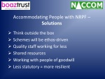 accommodating people with nrpf solutions