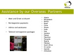 assistance by our overseas partners