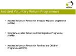 assisted voluntary return programmes