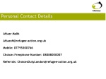 personal contact details