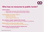 who has no recourse to public funds