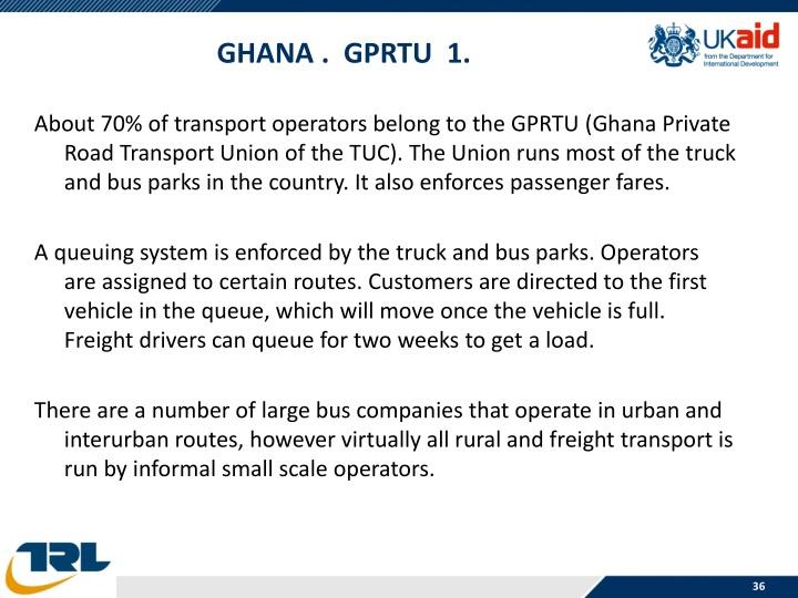 Ghana .  GPRTU  1.