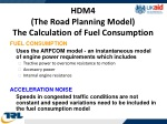hdm4 the road planning model the calculation of fuel consumption