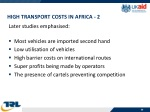 high transport costs in africa 2