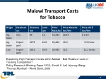 malawi transport costs for tobacco