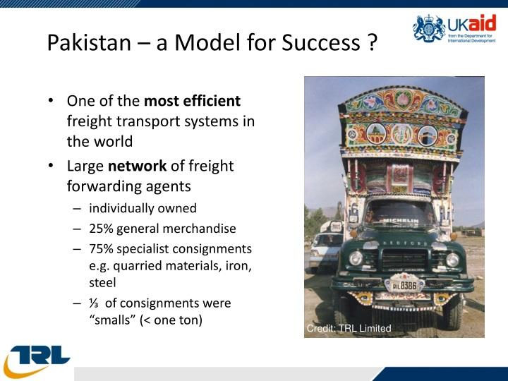 Pakistan – a Model for Success ?