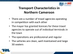 transport characteristics in northern cameroon