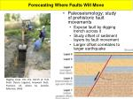 forecasting where faults will move