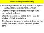 structural damage and retrofitting