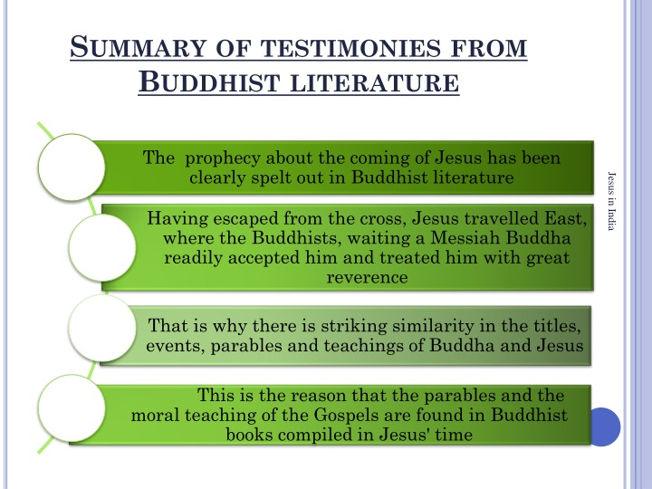 Summary of testimonies from
