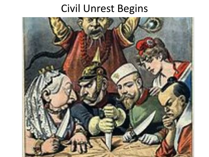 Civil Unrest Begins