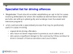 specialist list for driving offences