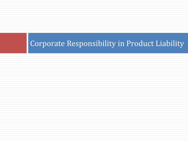 Design Defect Product Liability