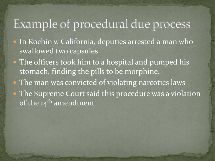 Example of procedural due process