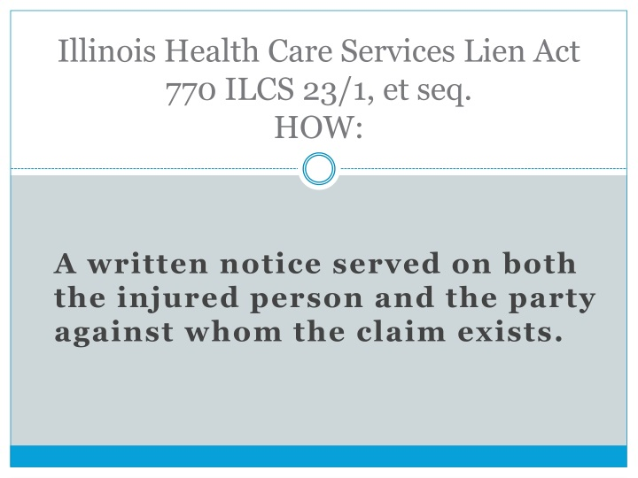 Illinois Health Care Services Lien Act