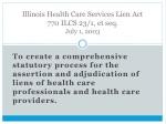 illinois health care services lien act 770 ilcs 23 1 et seq july 1 2003