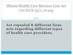 illinois health care services lien act 770 ilcs 23 1 et seq