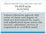 illinois health care services lien act 770 ilcs 23 50 01 01 20132