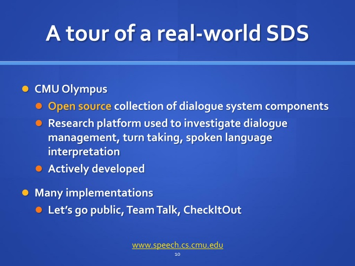 A tour of a real-world SDS