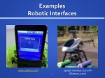 examples robotic interfaces