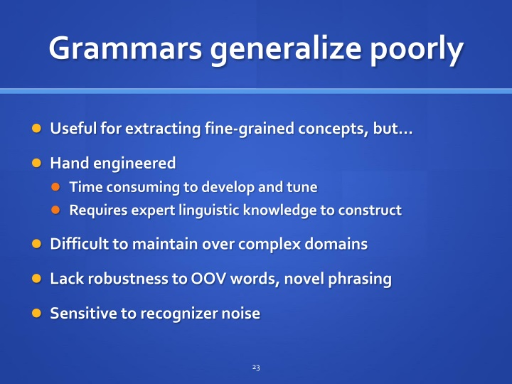 Grammars generalize poorly