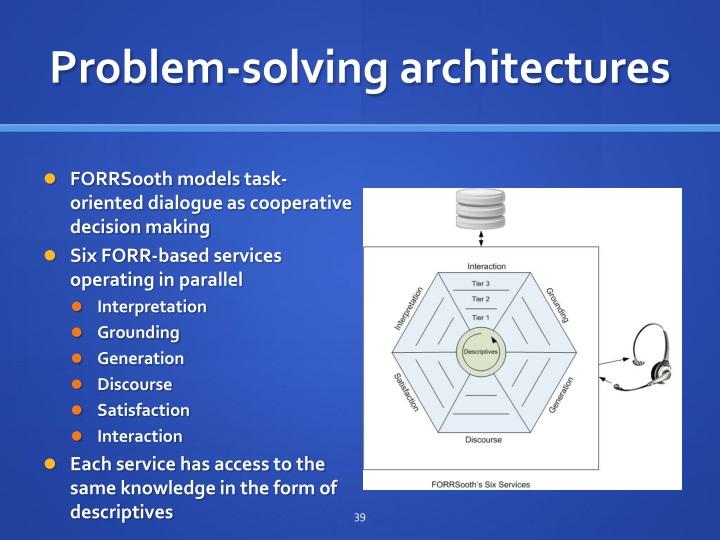 Problem-solving architectures