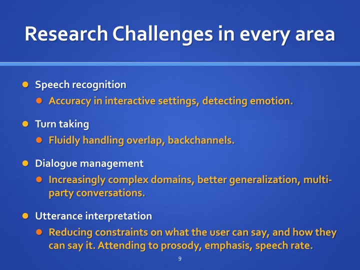 Research Challenges in every area