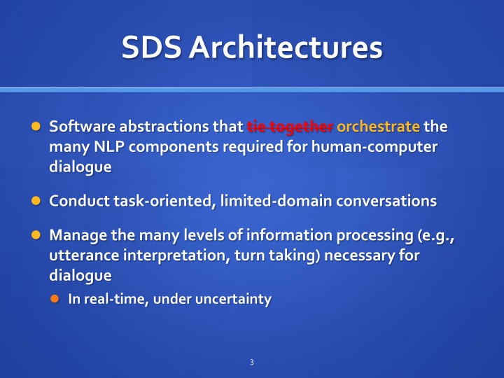 Sds architectures