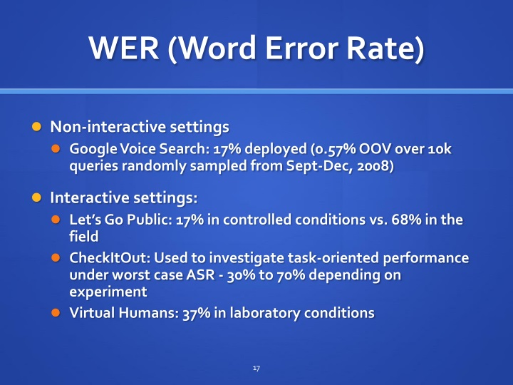 WER (Word Error Rate)