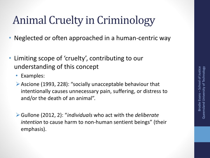 Animal cruelty in criminology