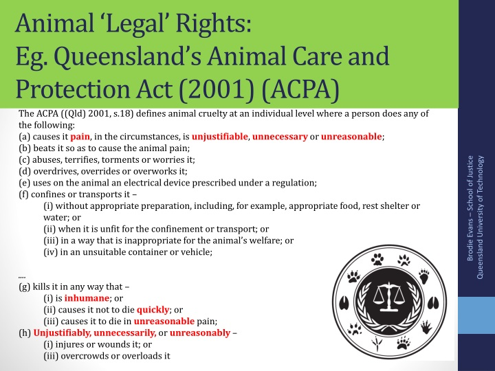 Animal 'Legal' Rights:
