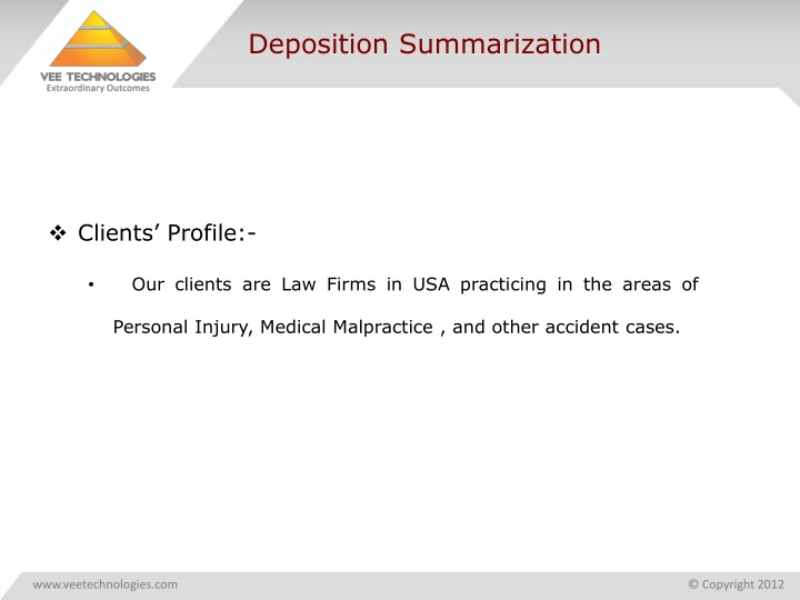 Deposition summarization