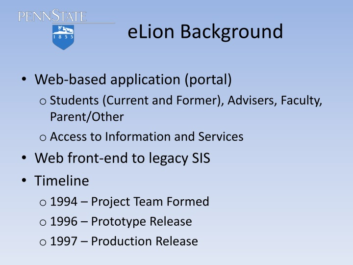 eLion Background