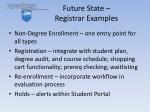 future state registrar examples