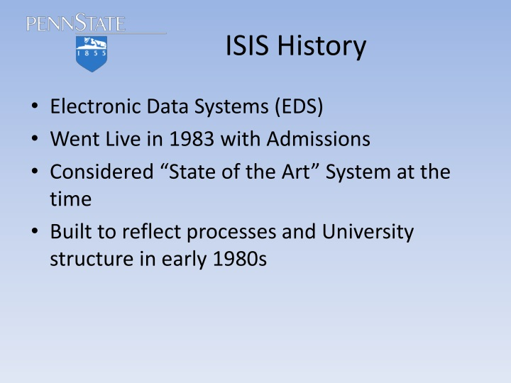 Isis history