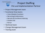 project staffing psu and implementation partner