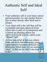 authentic self and ideal self
