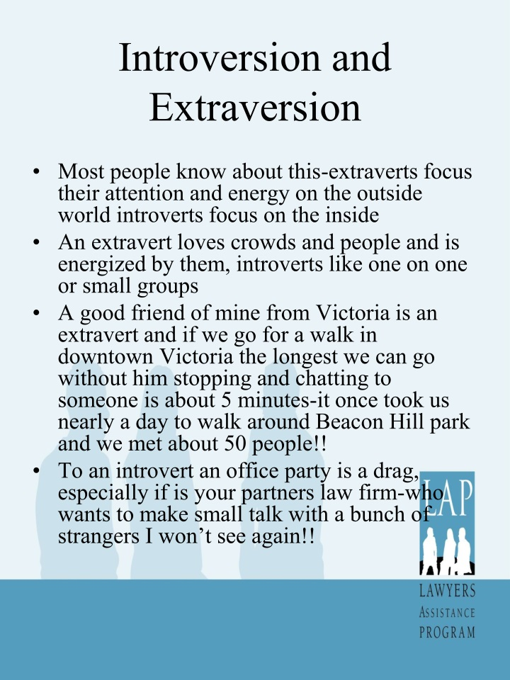 Introversion and Extraversion