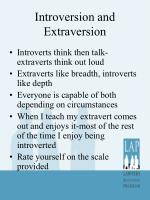introversion and extraversion1