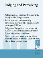 judging and perceiving1
