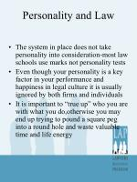 personality and law3