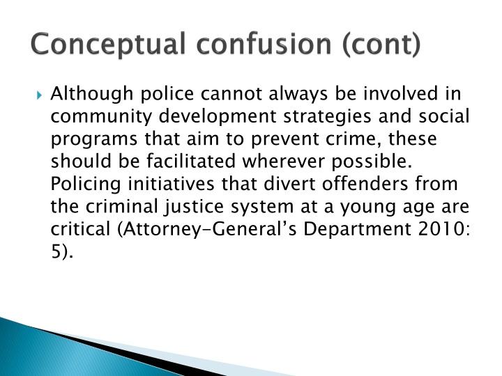 Conceptual confusion (cont)
