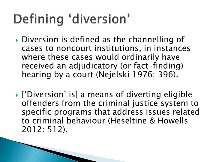 Defining 'diversion'